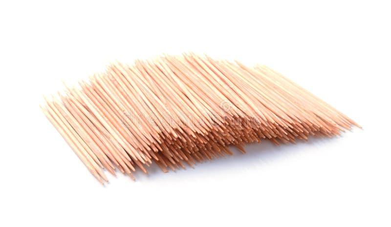 Toothpicks d'isolement sur le blanc photo stock