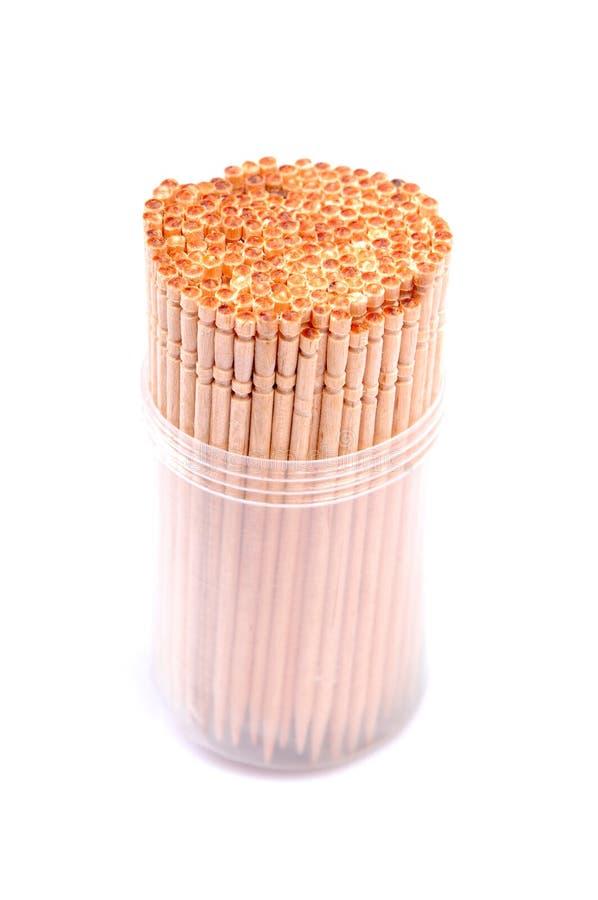 Toothpicks de madeira imagens de stock