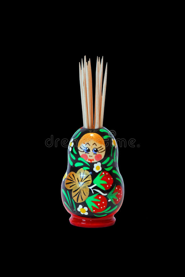 Download Toothpicks In Decorative Pot Stock Photo - Image of decoration, isolated: 28471118