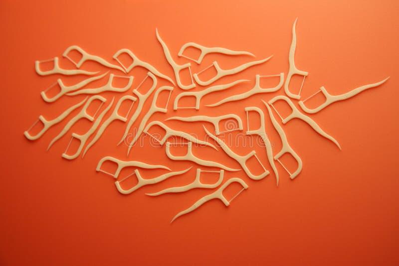 Toothpicks descartáveis foto de stock royalty free