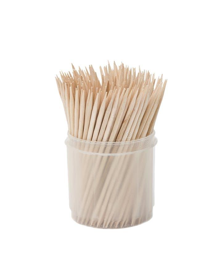 Toothpicks im Kasten stockfotografie