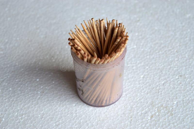 Toothpics stock afbeelding