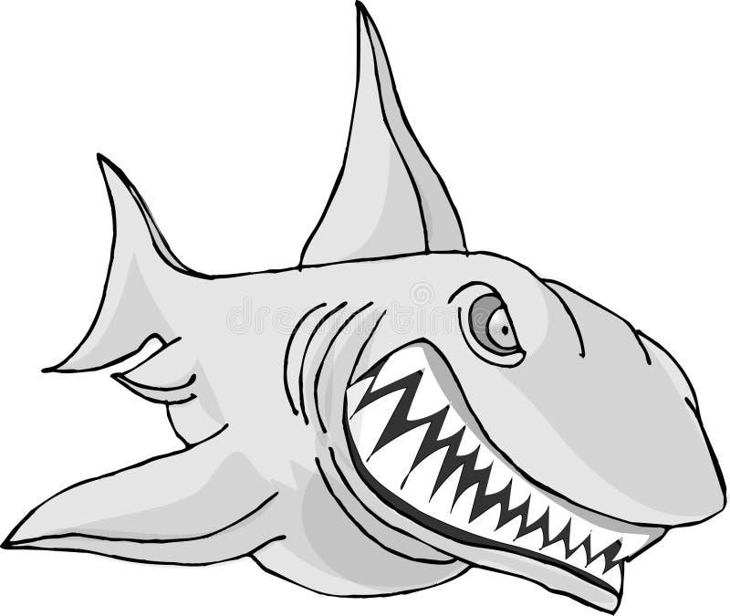 Toothy Haifisch lizenzfreie abbildung