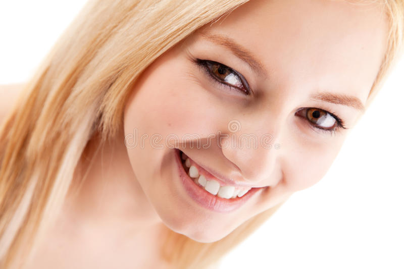 Toothy Lächeln lizenzfreie stockfotos