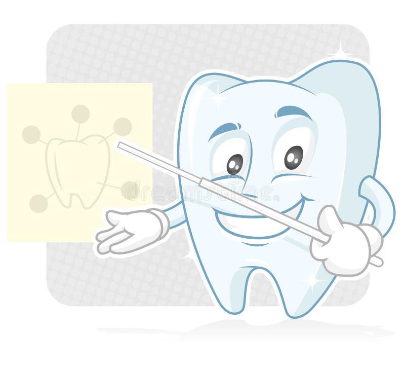Toothy o dentista ilustração royalty free