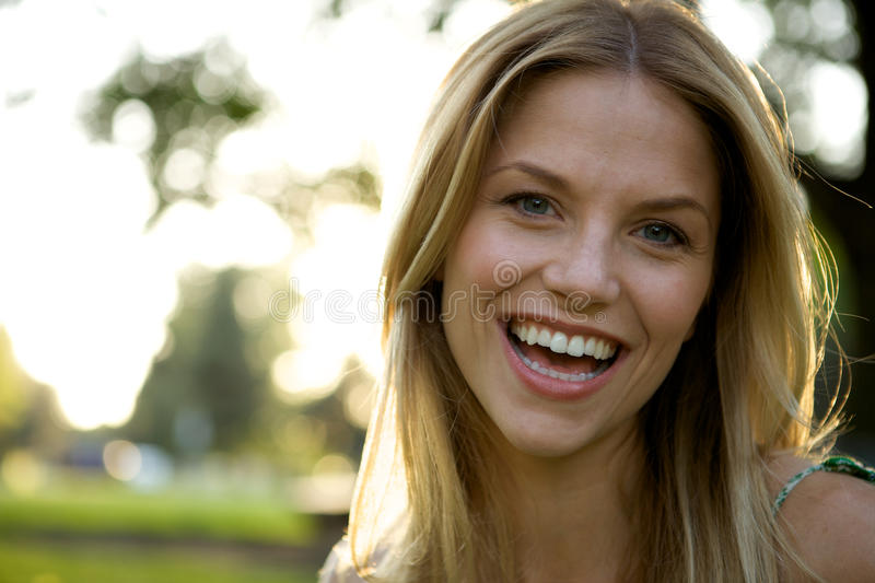 Download Toothy Smile Blonde Girl stock photo. Image of lifestyle - 9615696