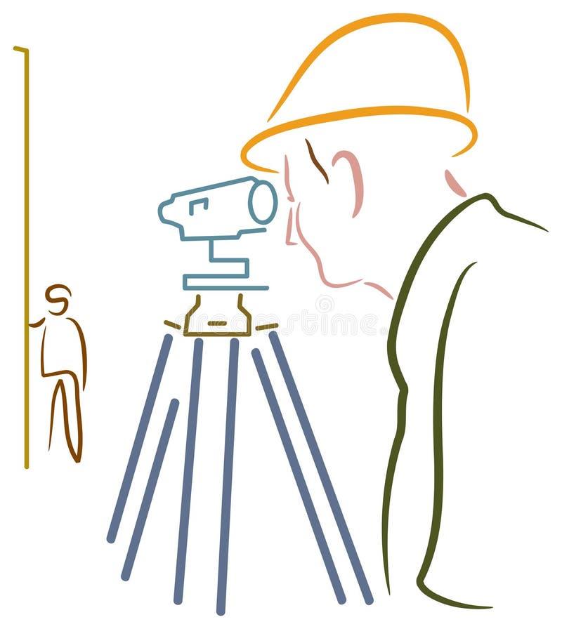 Topógrafo ilustración del vector