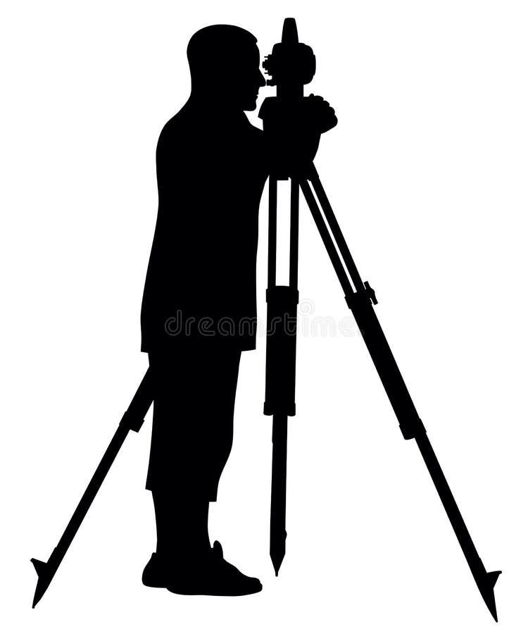 Topógrafo da terra ilustração stock