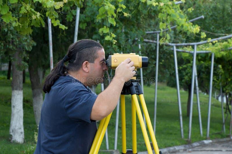 Topógrafo de la tierra fotografía de archivo libre de regalías