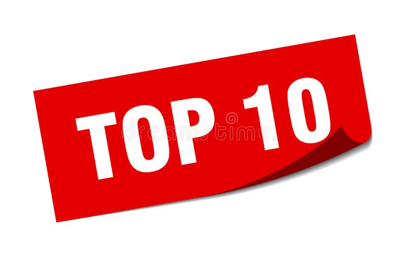 top 10 αυτοκόλλητη ετικέττα ελεύθερη απεικόνιση δικαιώματος