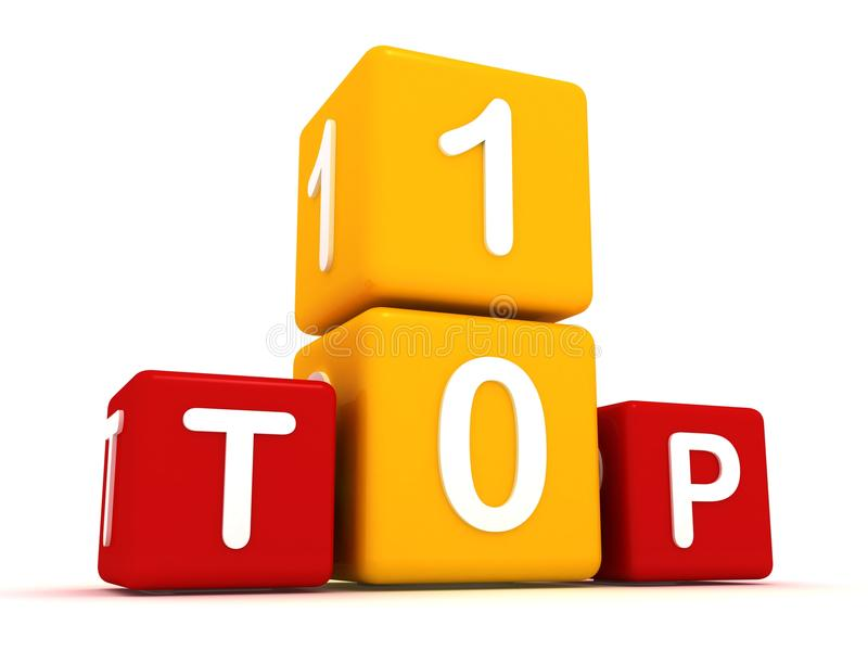 Top 10 cubes royalty free illustration
