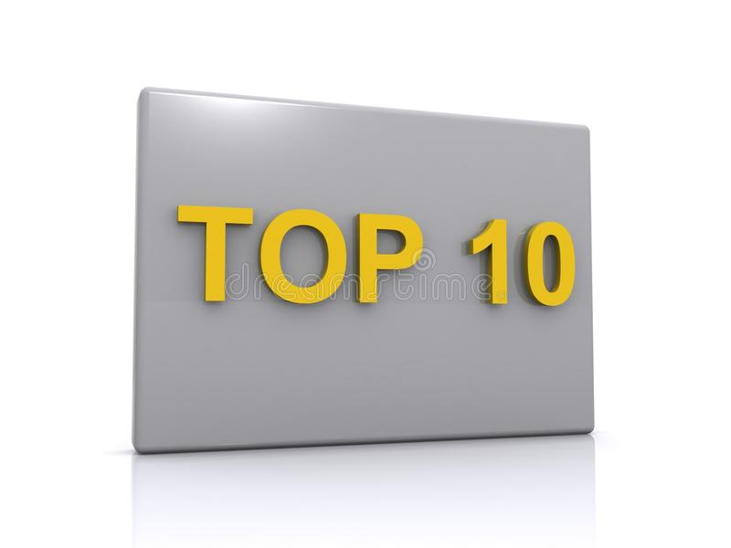 Download Top 10 sign stock illustration. Image of text, illustration - 25139043
