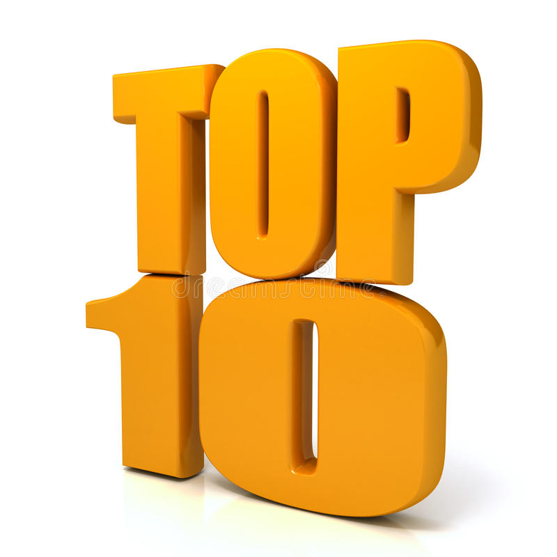 Top 10 words over white background royalty free illustration
