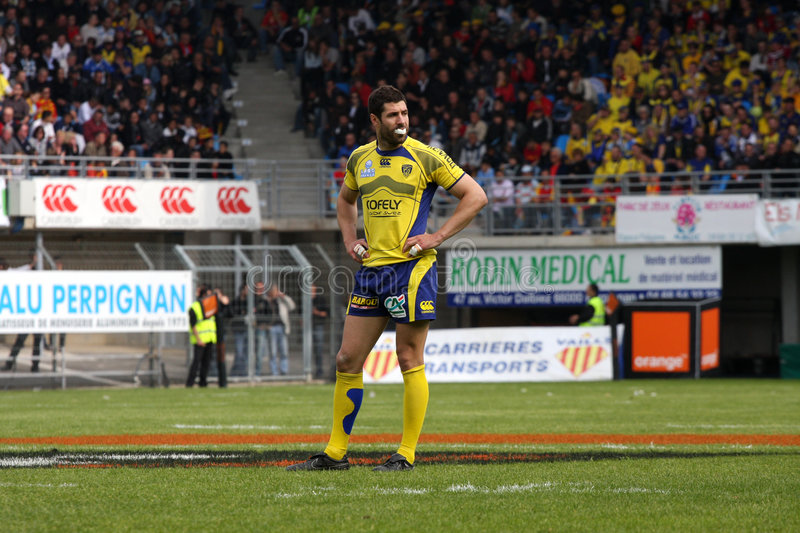 Top 14 rugby match USAP vs ASM Clermont Auve
