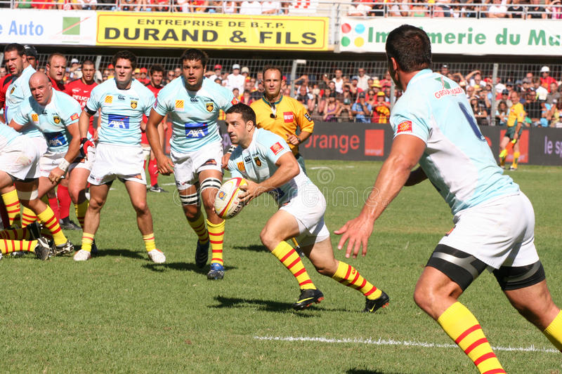 Download Top 14 Rugby Match USAP Vs Stade Toulousain Editorial Photo - Image: 10705801