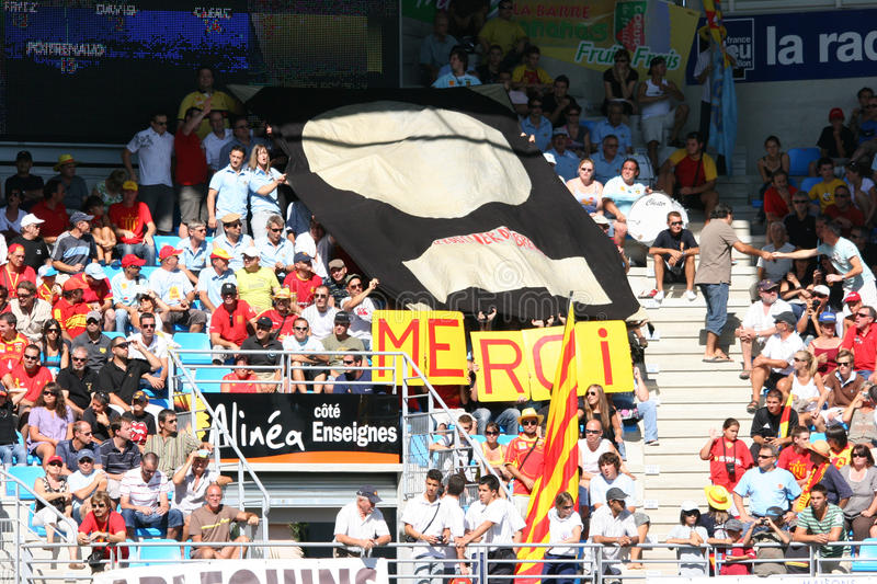 Top 14 rugby match USAP vs Stade Toulousain