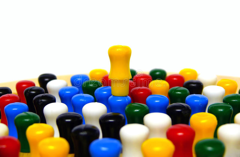 Download On Top stock image. Image of compete, pegs, best, checkers - 17262571