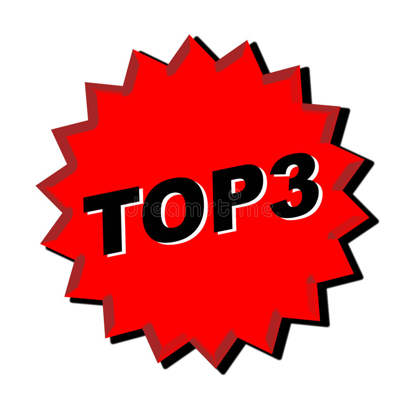 Top 3 Sign royalty free illustration