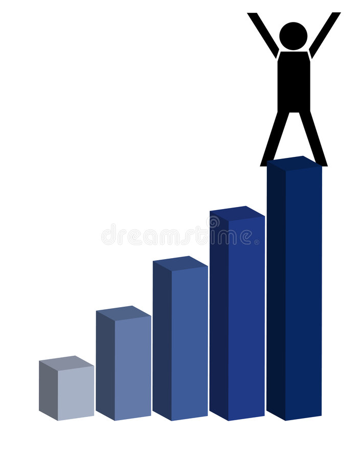 On the top stock illustration