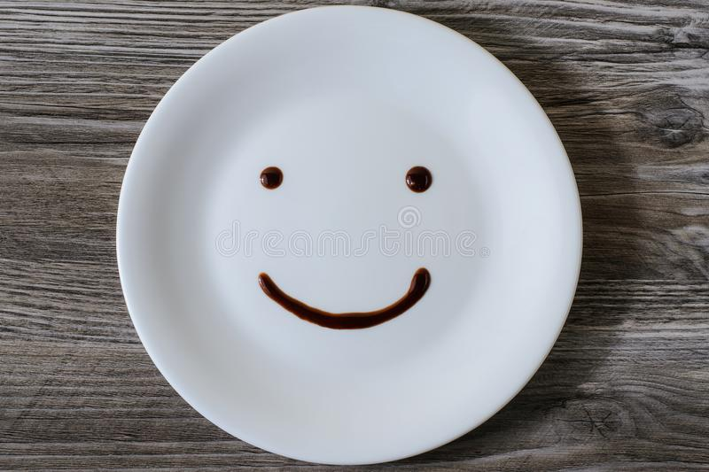 Top above overhead close up view photo of fun funny funky rejoicing nice glad happy happiness charming cheerful excited face with royalty free stock image
