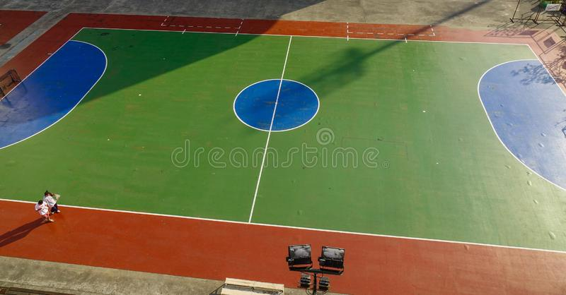 Top aerial view of opened stadium royalty free stock image