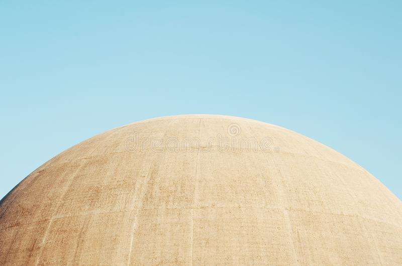 Top of a Amphiteatre Dome stock image