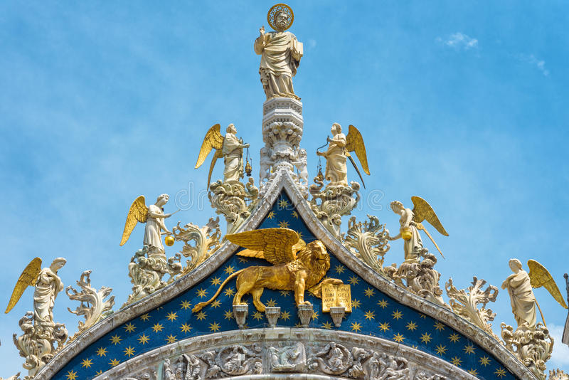 Top of the Basilica di San Marco in Venice stock photography