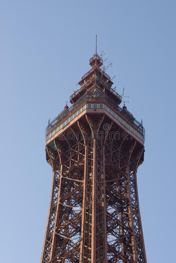 Top of the Blackpool tower royalty free stock photos