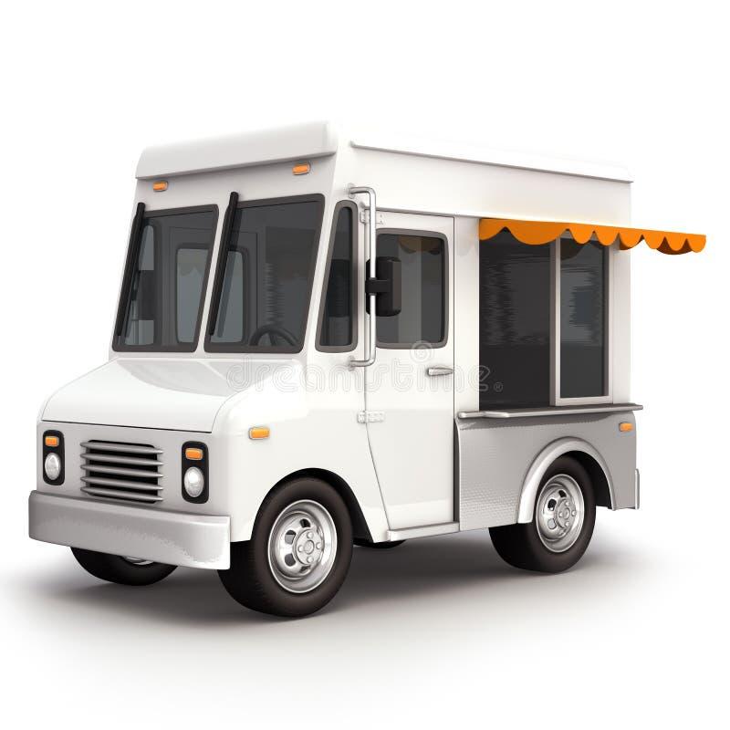Top blanco del camión de la comida imagenes de archivo