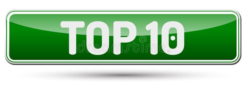 TOP 10 - botón hermoso abstracto con el texto stock de ilustración