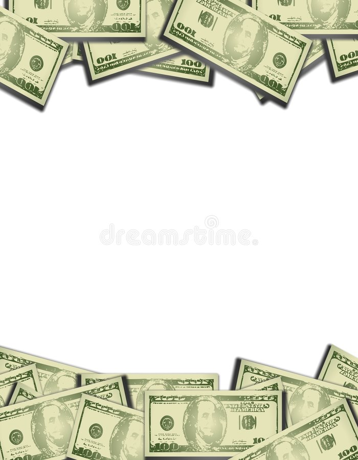 Top And Bottom Money Borders Stock Photography