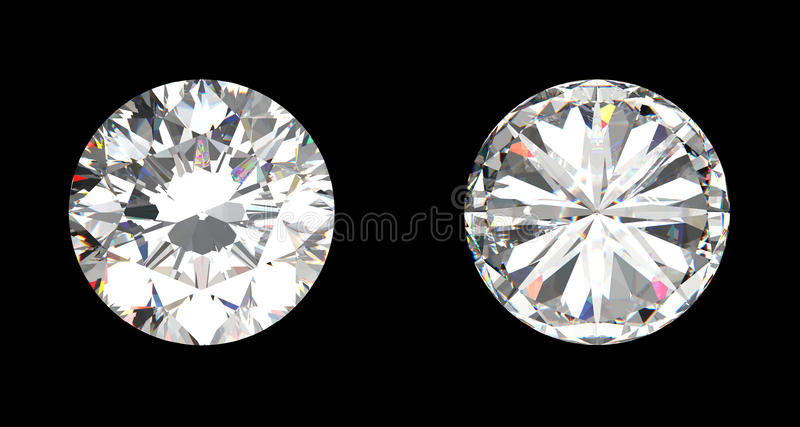 Top And Bottom View Of Large Diamond Stock Photos Image