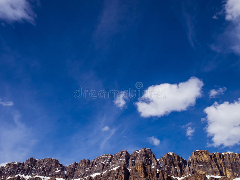 Top of Castle Mountain stock images