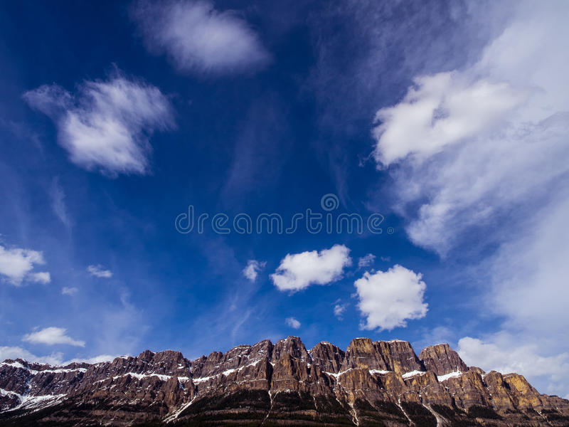 Top of Castle Mountain royalty free stock images
