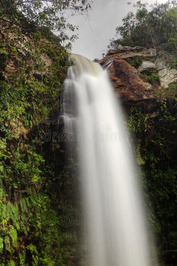 Top of a Chute type waterfall, Abade in Brazil stock photos