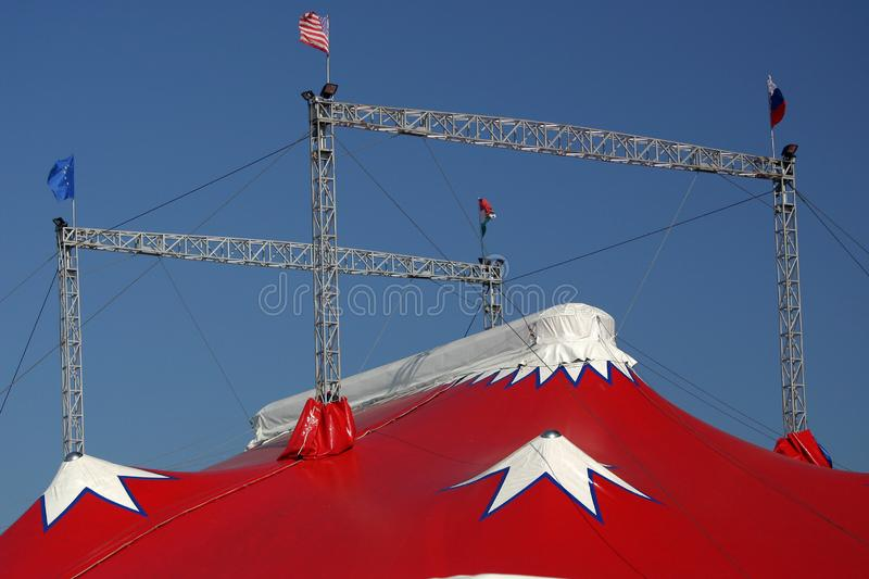 Top of a circus tent royalty free stock image