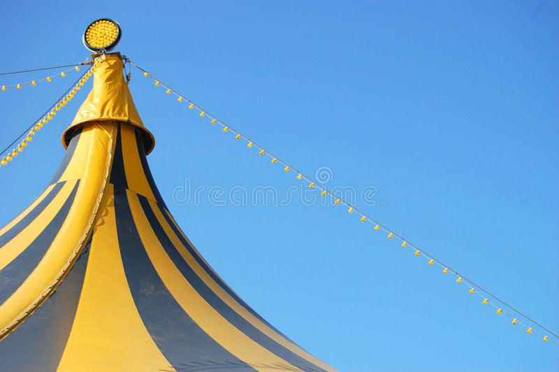 Top of a circus tent royalty free stock photo