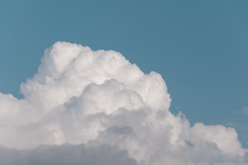 Top of a cumulus cloud in the afternoon summer heat.  stock photos