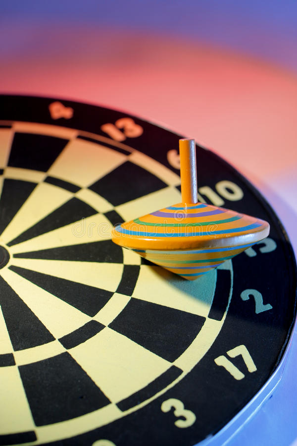Top And Dart Board Royalty Free Stock Photos