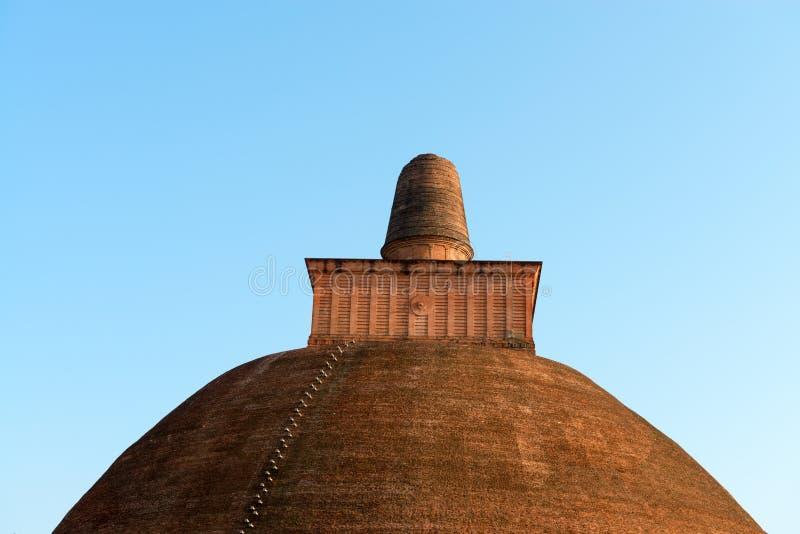 Top de dagoba (stupa) en Sri Lanka imagen de archivo libre de regalías