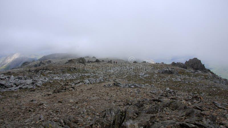 Top de Glyder Fawr en Snowdonia imagenes de archivo