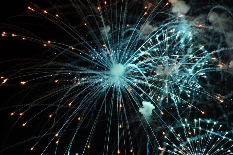 Top 4 de Juillet Fireworks Show photo stock