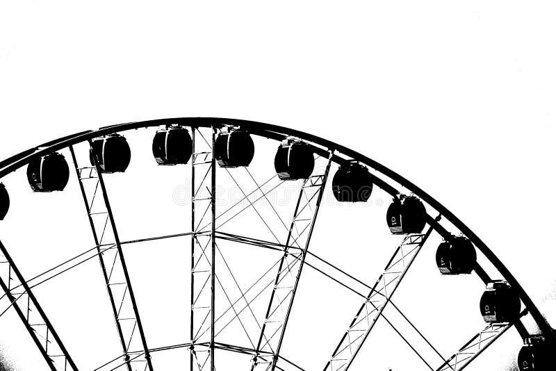 Top de la gran rueda de Seattle imagen de archivo