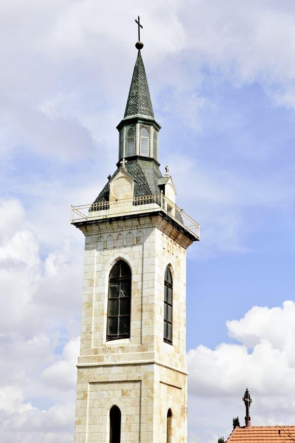 Top de la iglesia del Visitation, Jerusalén fotografía de archivo