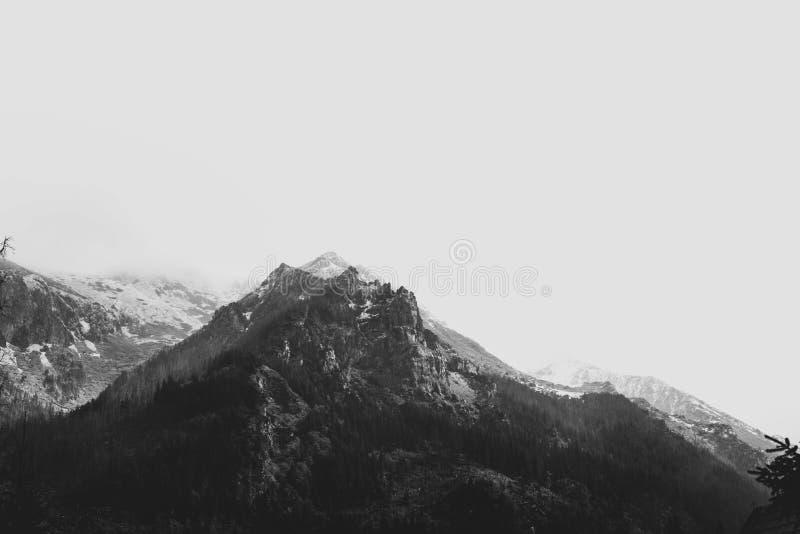 Top de la montaña, fotos de un viaje a Tatra, otoño 2018 imagen de archivo libre de regalías