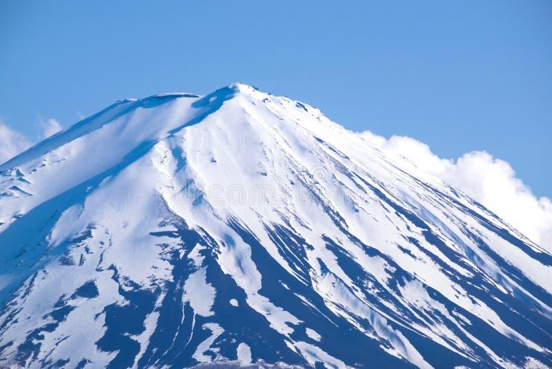 Top de la montaña Fuji del lago Kawaguchiko, Japón imagen de archivo libre de regalías