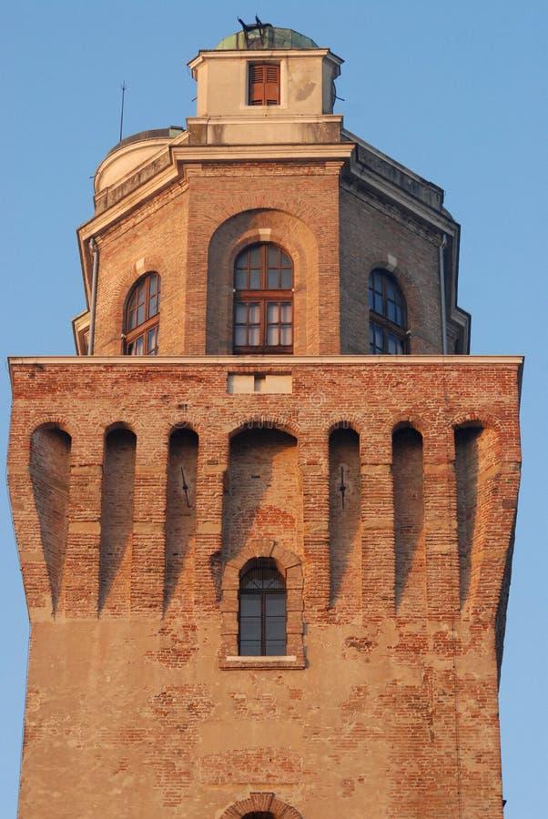 Top de la torre del observatorio o el diablo en Padua en Véneto (Italia) fotografía de archivo