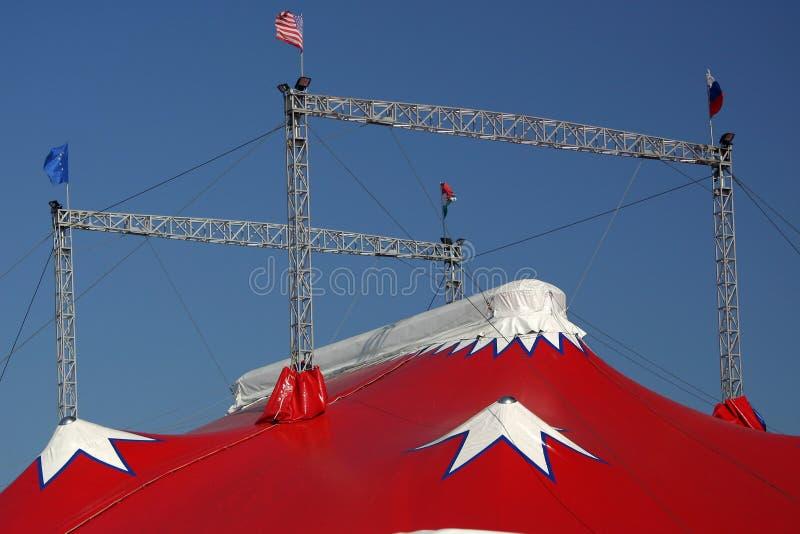 Top de una tienda de circo imagen de archivo libre de regalías