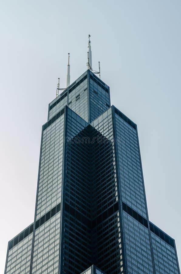 Top de Willis Tower, Chicago foto de archivo libre de regalías