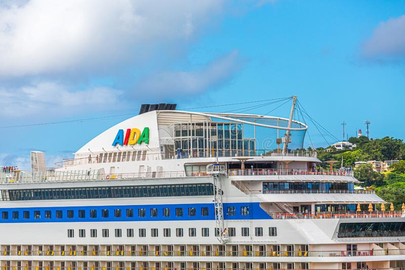 Top Decks of Aida cruise ship royalty free stock images